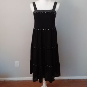 NWT Old Navy Black Jumper Dress w/White Embroidery